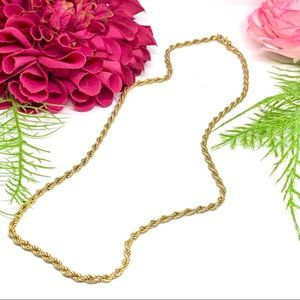 FINAL⚜️VINTAGE MONET Golden Twisted Rope Chain